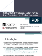 (RuiCoutinho)InnovationProcessesKPavitt_PT