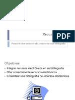 CÓMO CITAR RECURSOS WEB