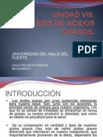 UNIDAD VIII Biosintesis de Acidos Grasos