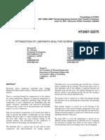 Optimization of Labyrinth Seal for Screw Compressor Ht2007-32275