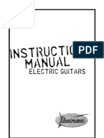 Ibanez Guitar Manual 2009