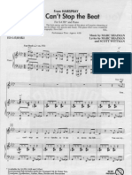 't Stop the Beat - SATB