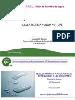 Huella hídrica y agua virtual. CONAMA
