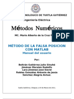 Falsa Posicion Con Matlab