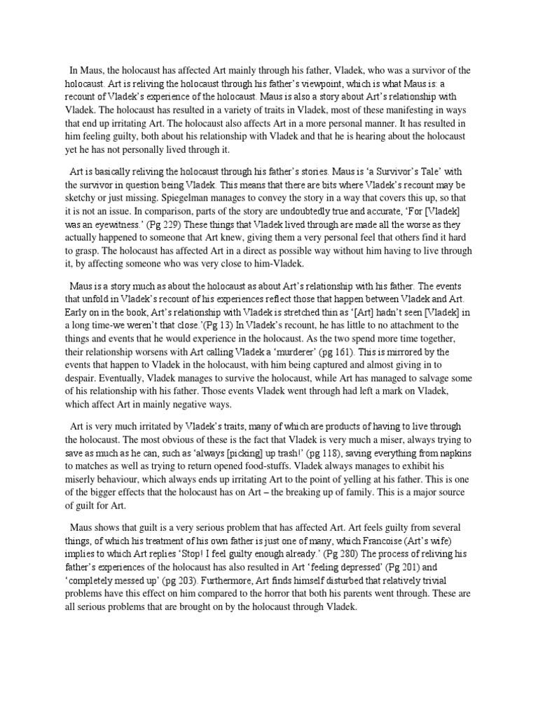 Essay about dehumanization in night