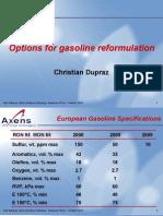 Options for Gasoline Reformulation