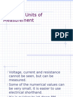 Electrical Units of Measurement