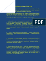 Manifesto More Europe (IT)