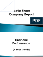 BSG Exotic Shoes Company Report