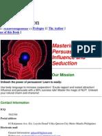 (eBook - Psychology - Nlp) Joseph R Plazo - Mastering the Art of Persuasion, Influence and Seduction