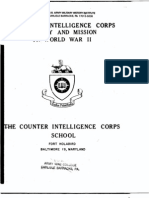 Counterintelligence Corps in Wwii