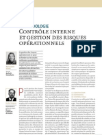 Contrôle Interne et Gestion des risques opérationnels - méthodologies