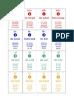 Spellingskwartet Clusters in Kleur + Zw