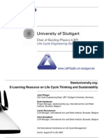 Resource on Life Cycle Thinking and Sustainability (Steeluniversity), Pflieger