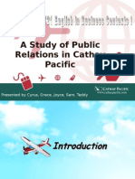 A Study of Public Relations in Cathay Pacific