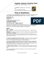 G's 1112 Hockey Pool - Rules & Regs[1]