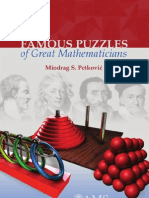 Famous Puzzels of Great Mathematicians