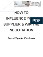 How to Influence Your Supplier and WIN the Negotiation for Participants