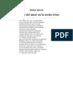 Alberti Rafael - Retornos Del Amor en La Noche Triste