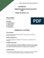 Bd1 Normas Bibliografia y Programa
