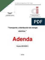 Adenda Transporte y distribución 2010, 2011