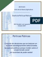 DISEÑO POLITICAS PÚBLICAS