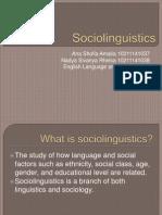 Sociolinguistics- 3B