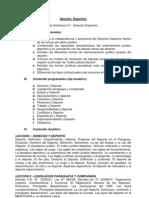 Programa de Estudios - Derecho Deportivo
