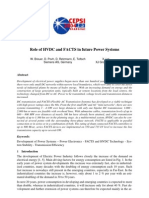 Role of HVDC and FACTS in Future Power Systems