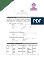Partho Bsc CV Final