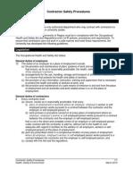 Contractor Safety Procedures Draft