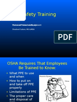 PPE Training | Personal Protective Equipment | Safety