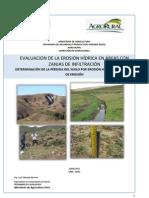 Evaluación de erosion en zanjas de infiltración