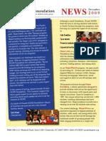 Project Hope Foundation December 2009 Newsletter