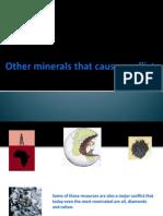 Otros Minerales Causantes de Conflictos Anterior Mente
