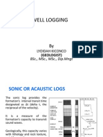 Well logging notes -Sonic logs