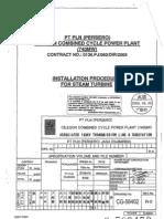 Installation Procedure for Steam Turbine
