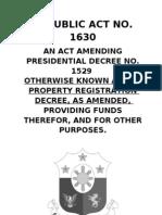 An Act Amending Presidential Decree No. 1529