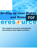 User Manual of Setting up User Rights and Roles in eresource ERP