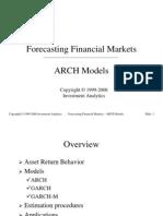 Eco No Metrics > Forecasting 2001 - ARCH Models