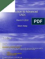 Introduction to Advanced UNIX 2010