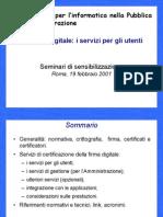 (ebook - ITA - INFORM) Autorità per l'informatica nella pubblica amm. - La Firma Digitale (PDF)