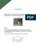 Usinage Chimique Ultrason Electroerosion