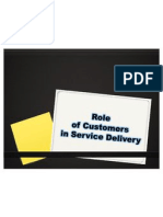 Role of Customers In
