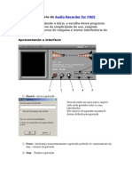 Manual de Usuário Do Audio Recorder for FREE