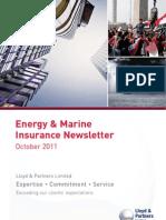 Lloyd & Partners Energy & Marine Newsletter Oct 2011