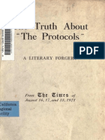 Truth About the Protocols a Literly Forgery