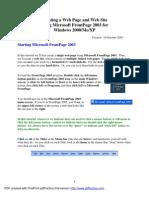 FrontPage 2003 Tut