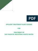 Palm Oil Effluent Treatment Scheme