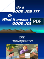 How to Do a Good Job